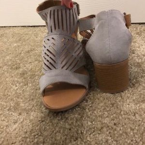 light gray sandals